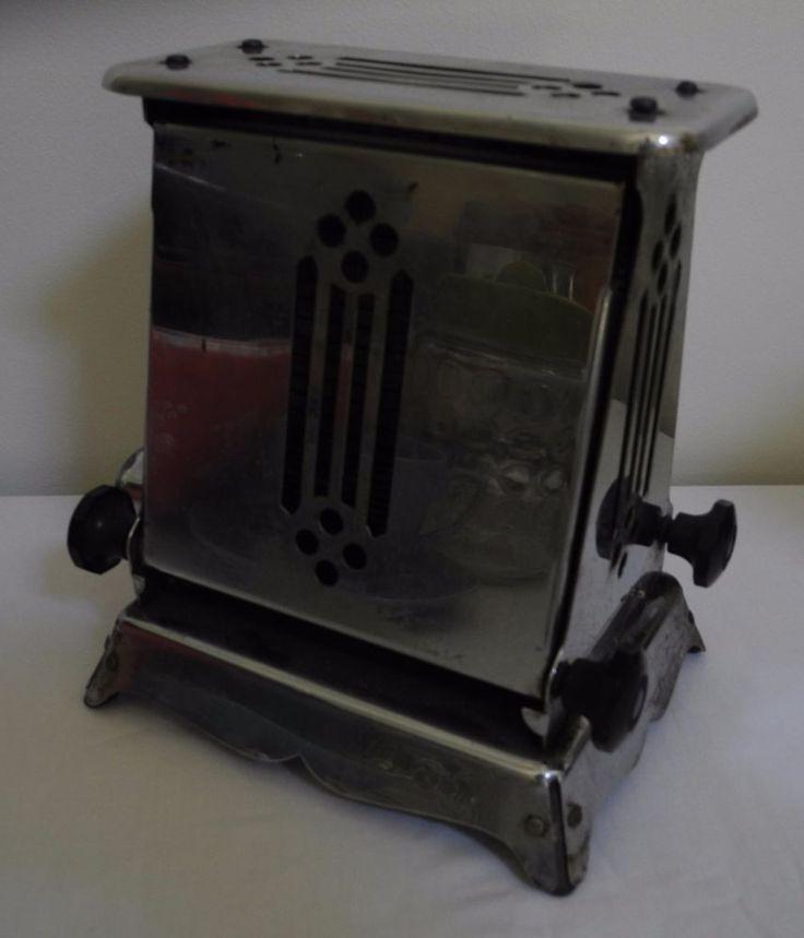 Vintage Chrome Bakelite Drop Side Electric Toaster Hotpoint