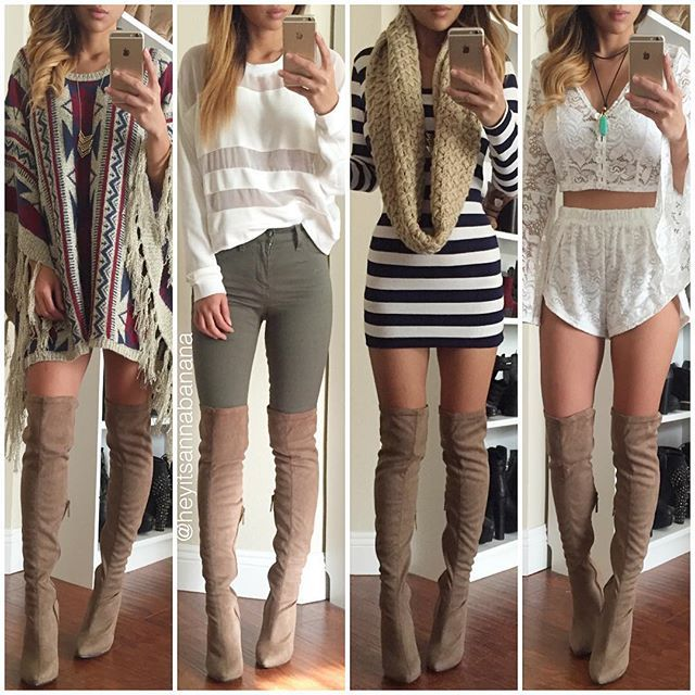 25  best ideas about Knee high boots outfits on Pinterest | Thigh ...