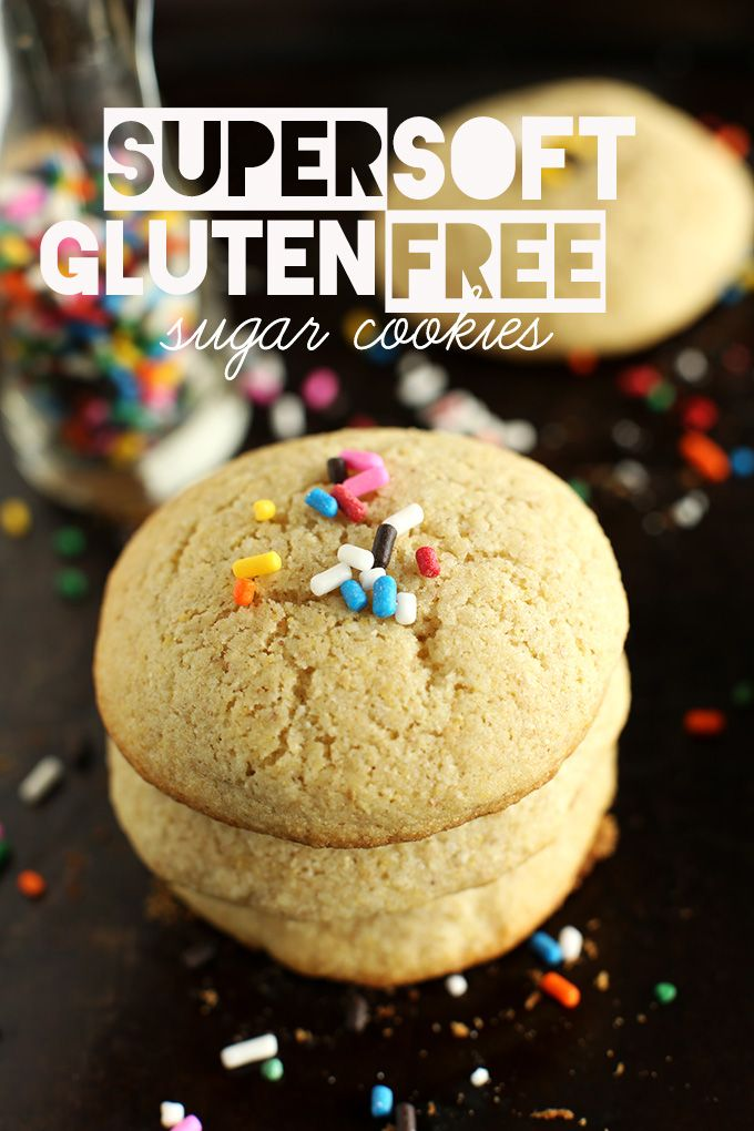 Super Soft Gluten Free Sugar Cookies! Made with a wholesome DIY GF baking mix | minimalistbaker.com