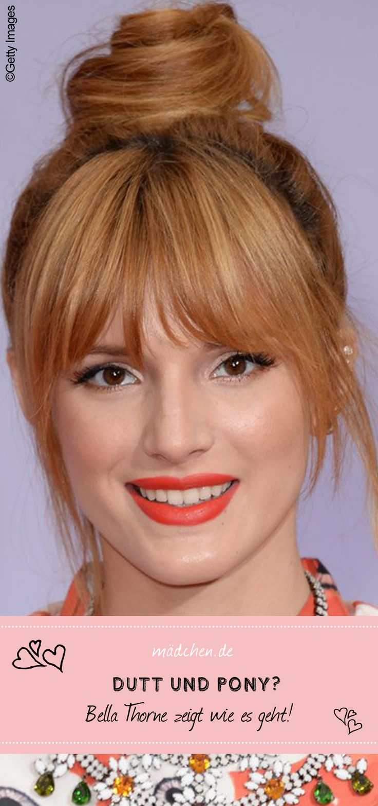 Hairstyle by Bella Thorne - pictures