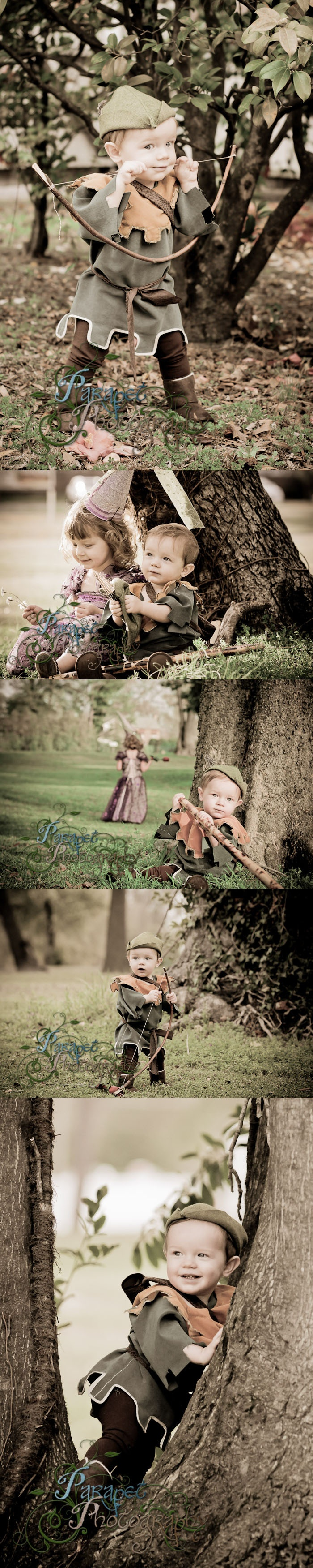 A basic DIY guide on how to do a Robin Hood themed children's cosplay, LARP, or photoshoot with costume, prop and location ideas from findingstorybookland.com
