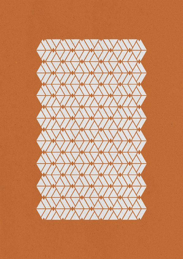 geometric versions in patterns textiles