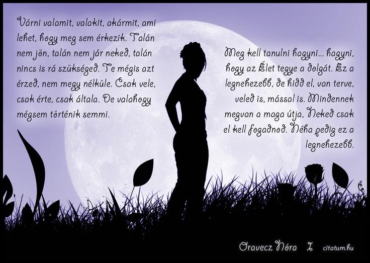 A hét idézete 2013 hatodik hetében Oravecz Nóra Facebook oldaláról.