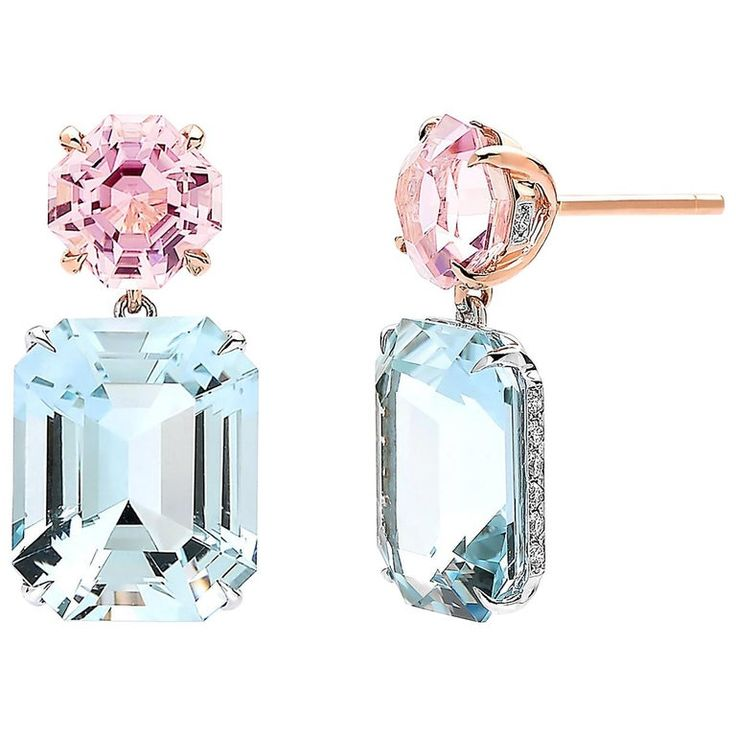 Paolo Costagli – 12.43 Carat 3.43 Contemporary Aquamarine,white Diamond,tourmaline 18K Gold, Rose Gold, White Gold
