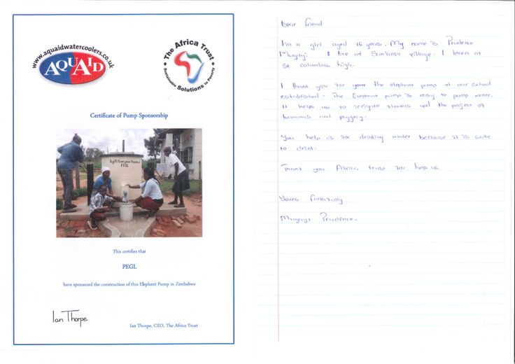Fantastic to see our clients making a huge impact on people's lives! President Engineering Group in Sheffield received this letter after installing a water pump in a village in South Africa.  Read more here www.dragonflypr.co.uk/dragonfly-news/dragonfly-client-provides-water-aid-africa