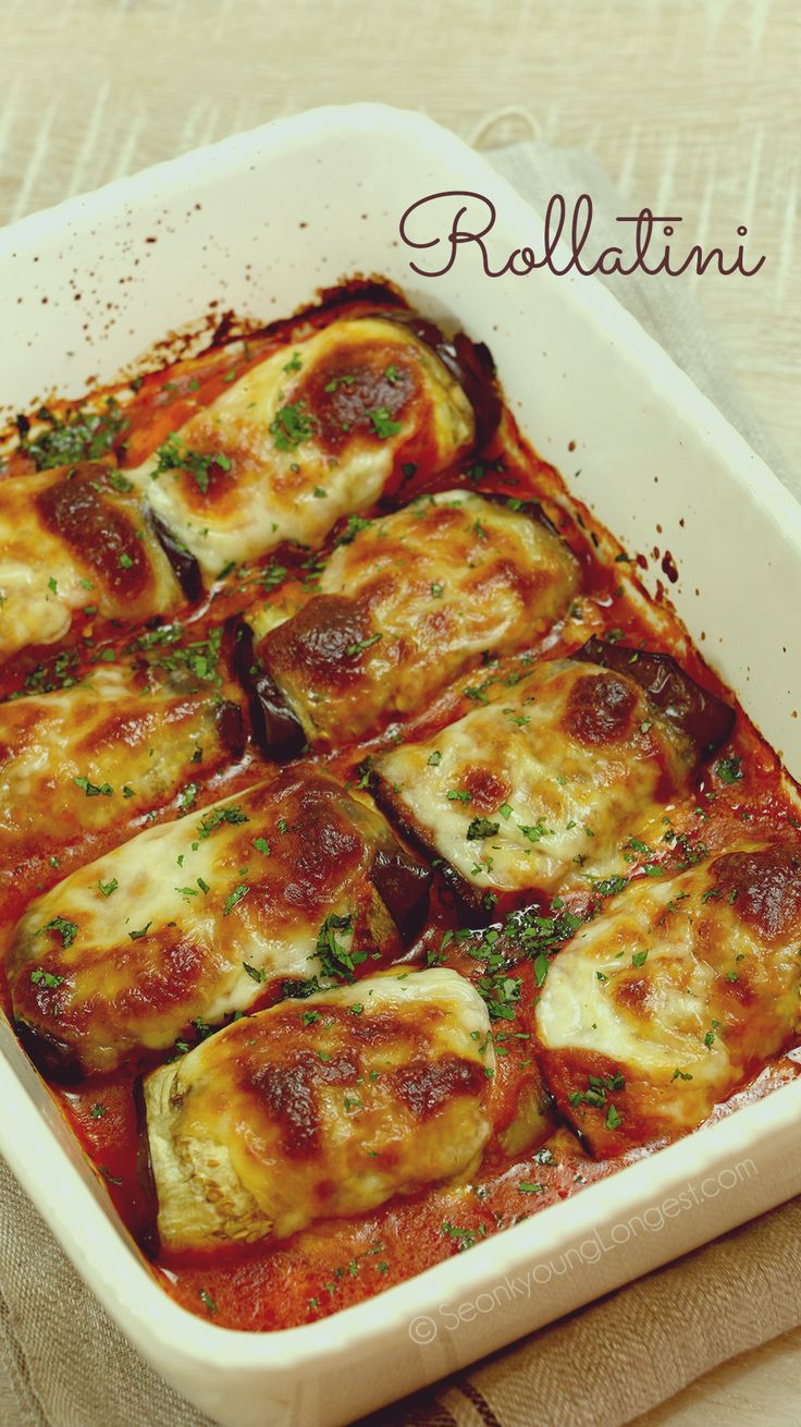 5 from 1 reviews Eggplant Rollatini Save Print Prep time 5 mins Cook time 45 mins Total time 50 mins Author: Seonkyoung Longest Serves: 2 to 4 Ingredients For the Eggplant 1 lb / 453g eggplant, cut into ½ to ¼-inch thin 8 slices 1 tsp / 4g salt ½ tsp / 2g...Read More »