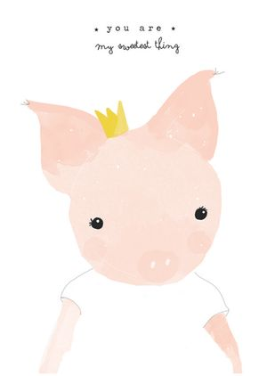 Little Piglet. Cerdita. Qué monada!