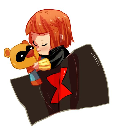 baby natasha plus bucky bear by Nani-Mi.deviantart.com on @deviantART