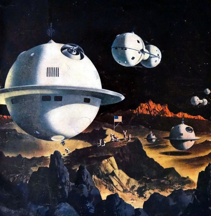 Vintage Sci Fi Illustrations Retro Science Fiction: Vintage Science Fiction Illustration