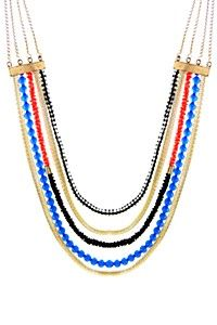 MULTISTRAND CHAIN beautiful pop of colour to add to any outfit