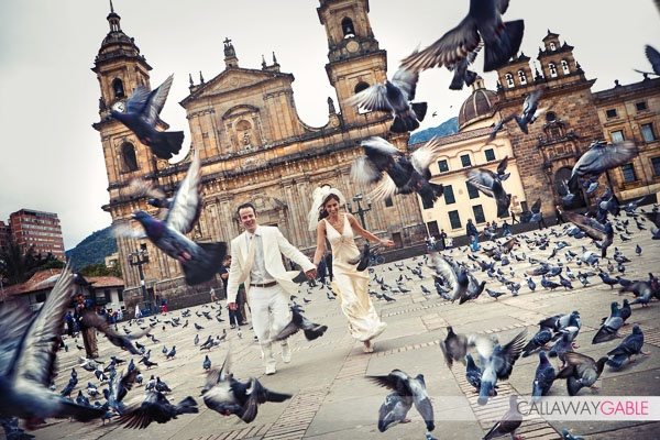Bogota, Colombia Destination Wedding in La Candelaria District