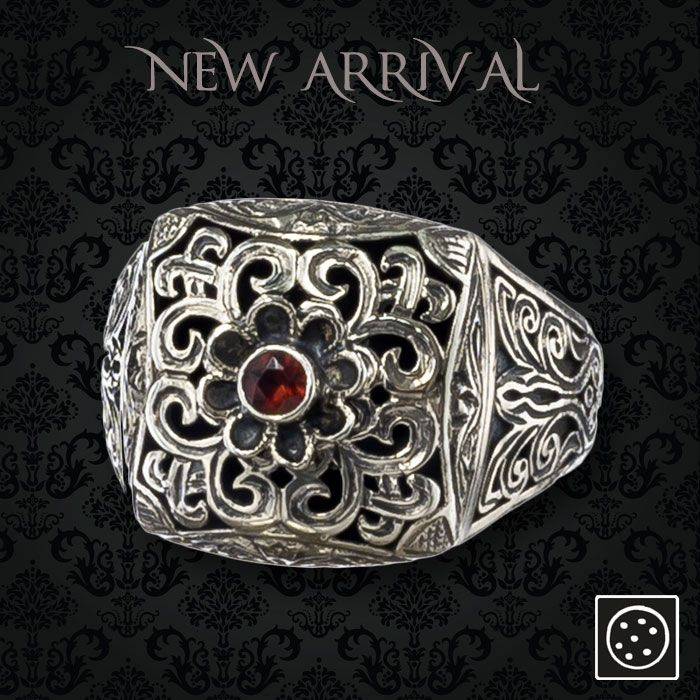 A new sterling silver single-stone ornate ring. Check out the link for more details and join our newsletter to get your exclusive discount.