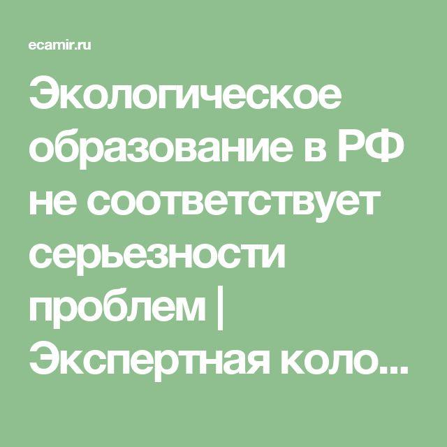 Экологическое образование в РФ не соответствует серьезности проблем | Экспертная колонка | Зелёное движение России ЭКА