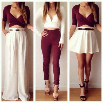 burgundy crop top ipadiphonecase.com belt t-shirt jumpsuit underwear skirt jeans…