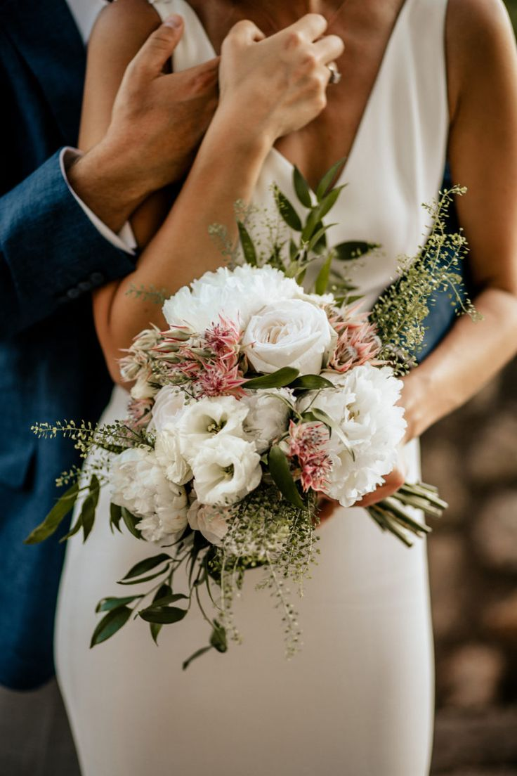 Romantic Bride Bouquet by Mille Papillons