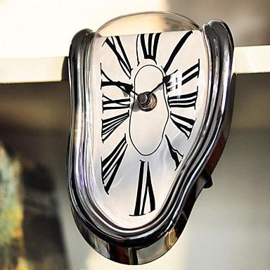 Cool+Novelty+Timepiece+Art+Warp+Chrome+Melting+Quartz+Irregular+Cute+Clock+–+AUD+$+28.59
