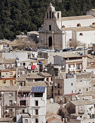Chiaramonte Gulfi. The city, in southeast Sicily, is famous for two award-winning products: extra virgin olive oil from the cultivar Tonda iblea and Massimiliano Castro's salami.