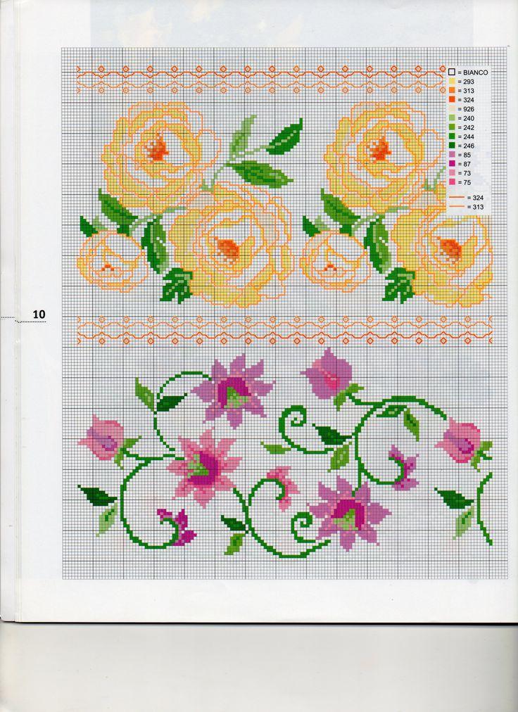 73 best schemi bordi punto croce images on pinterest for Bordi punto croce