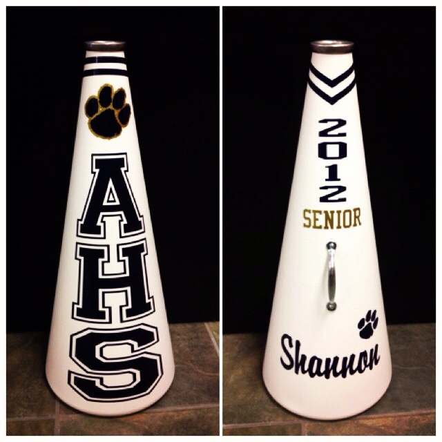 AHS senior cheerleading megaphone.