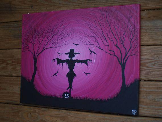 Everyday is Halloween 12 x 24 acrylic on canvas door MichaelHProsper