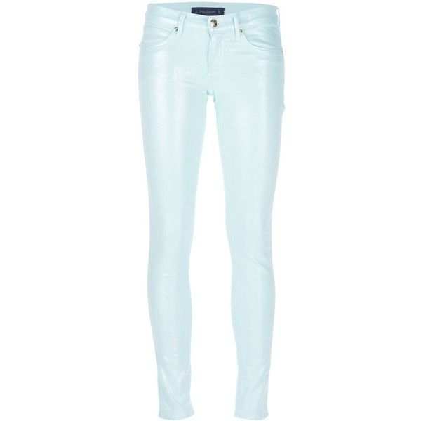 Juicy Couture Skinny Trouser (395 BRL) ❤ liked on Polyvore featuring pants, capris, blue, skinny fit pants, juicy couture, skinny trousers, super skinny pants and blue skinny pants