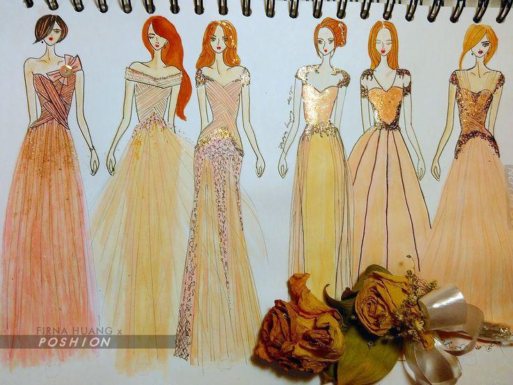 Poshion Sketch Book | #fashionillustration #sketchbook #fashionsketch #fashiondesign #draw #croquis #learntodraw #fashionposes #fashionfigure #fashion #gaunpesta #partydress #fashiondesigner