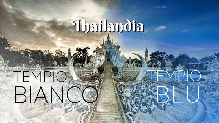 """TEMPIO BIANCO vs TEMPIO BLU • Tour del Nord • Thailandia 🐒 🇹🇭 Ep.6 - La Thailandia è piena di magnifici templi, solitamente tutti antichi ma spicca anche per strutture moderne, particolarmente esotiche, come appunto il Wat Rong Khun (Tempio Bianco) e il Wat Rong Suea Ten (Tempio Blu). Entrambi si trovano in zona Chiang Rai e sono dei rari esempi di folle architettura moderna thailandese. Oltre a questo, vi portiamo a vedere il famoso """"triangolo d'oro""""."""