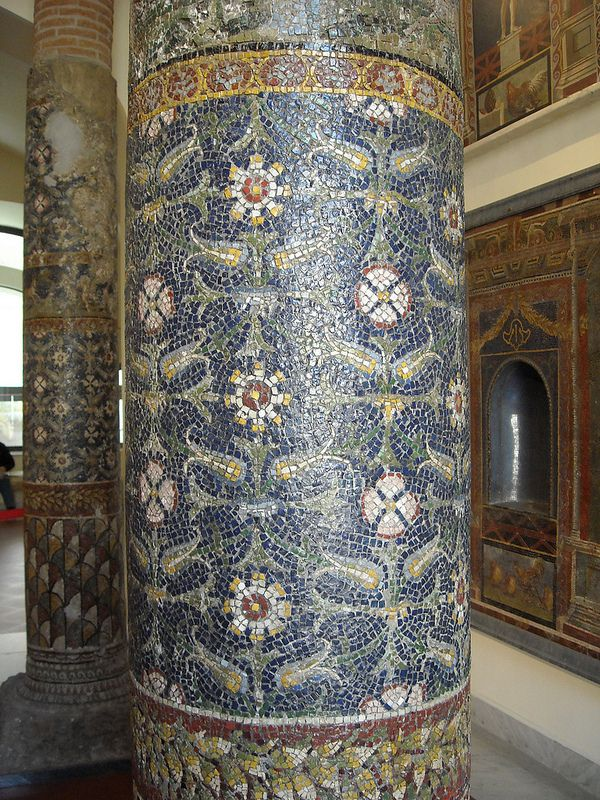 Columns from Pompeii - Naples, Archaeological Museum - The Glass Mosaics at Pompeii and Herculaneum (79 AD)