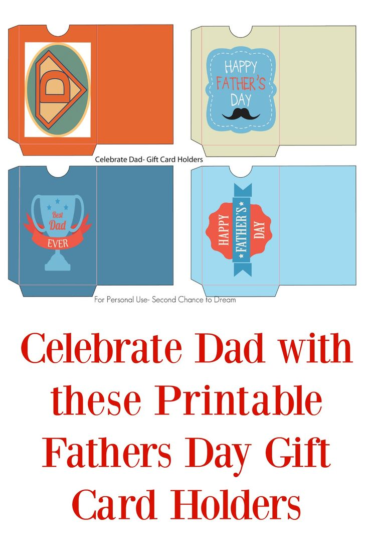 Printable Fathers Day Gift Card Holders