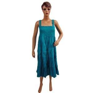 "Womens Skirt Cotton Didger Blue Multi Wear Long Spaghetti Smocked Dress 36"" (Apparel)  http://www.amazon.com/dp/B0089JE1CW/?tag=guimagtab-20  B0089JE1CW"