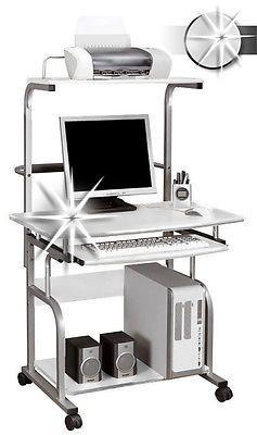 Computerschreibtisch Schreibtisch PC Tisch Hochglanz Weiß CT 7800/1297