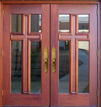 32 best images about church doors on pinterest church rustic doors and style for Exterior glass doors for churches