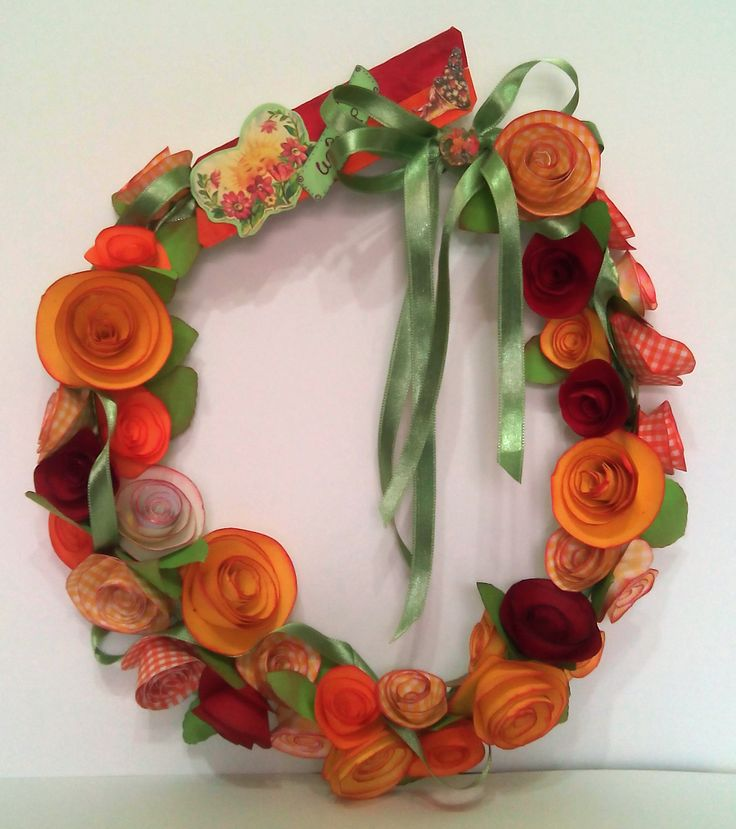 a wreath to salute spring
