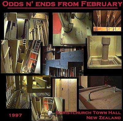 Montage of organ construction pictures