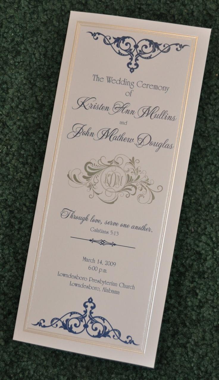 Wedding Program Esp Like The Scripture Verse