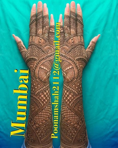 "4,508 Likes, 26 Comments - Poonam mehendi (@poonammehendi_hennaartist) on Instagram: ""FOR CLASSES AND BRIDAL ORDER BOOKINGS, CONTACT ON +919930042760. #mehendi #henna #bridal #design…"""