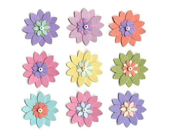 12 best scrapbook flowers embellishments images on pinterest flowers embellishments for baby girl scrapbook page paper flower scrapbook embellishments assorted pastels pink mightylinksfo