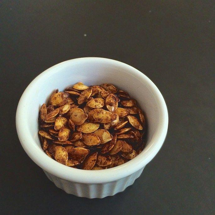 how to roast butternut squash seeds - sugar cinnamon flavor