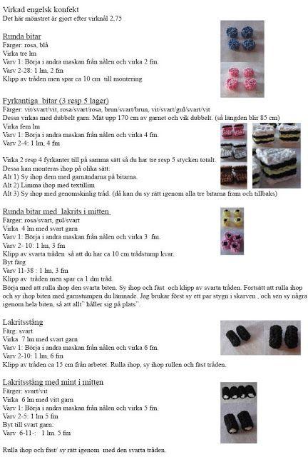 mest virkat: Gratis mönster engelsk konfekt (virkmönster)