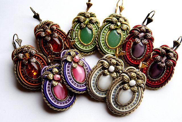 "Soutache Earrings ""Simplicity"" by BeadsRainbow, via Flickr"