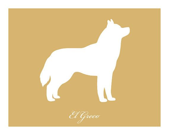 Personalized Siberian Husky Silhouette Print With Custom