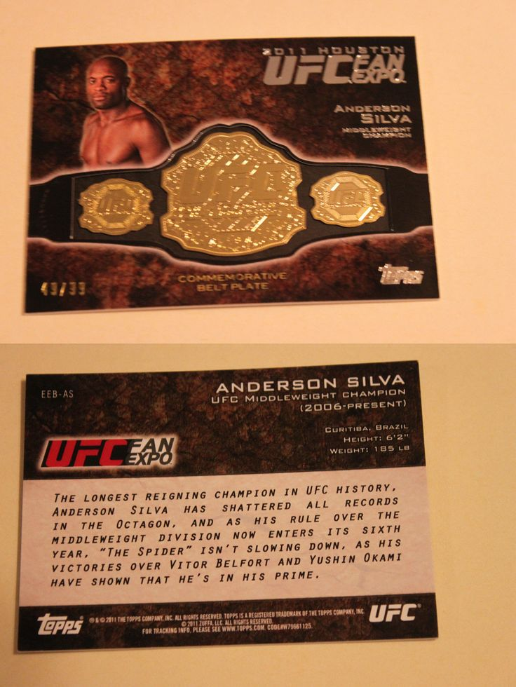 Mixed Martial Arts MMA Cards 170134: 2011 Topps Ufc Houston Fan Expo Anderson Silva Card Rare 49 99 -> BUY IT NOW ONLY: $55 on eBay!