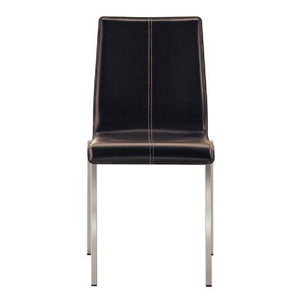 Jetzt bei Desigano.com Kuadra Stuhl mit Lederbezug Sitzmöbel, Stühle von Pedrali ab Euro 252,00 € Bequemer Stuhl aus der Kuadra Serie. Design: Pedrali R&DAusführung: - Gestell verchromt - Sitzschale mit echtem Leder bezogen in verschiedenen Farben erhältlich Maße in cm: - Höhe: 86,5- Tiefe: 53- Breite: 45- Sitzhöhe: 46,5