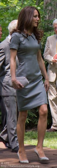 Catherine Walker dress at tree-planting ceremony in Canada