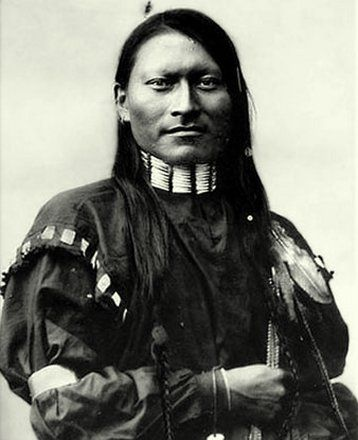 "Red Armed Panther A Great Warrior of Cheyenne Indians.  The Cheyenne Indians- Tribe of Algonkian linguistic stock, whose name means ""red talker"", or ""people of a different speech"", lived, and hunted on the hills and prairies alongside the Missouri and Red rivers."
