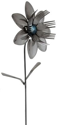 Funny and totally unique flatware products made out of forks and spoon which is another awesome addition to the home and office supplies line. This Celeste Fork Spoon Flower is an unwithering display