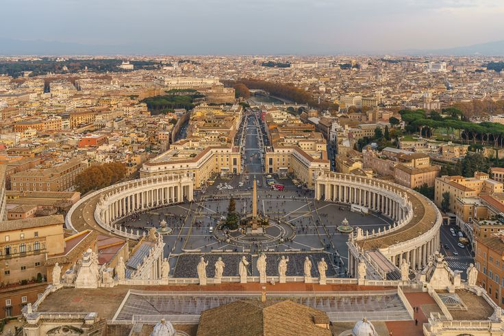 View from the St. Peters Cathedral in Vatican City