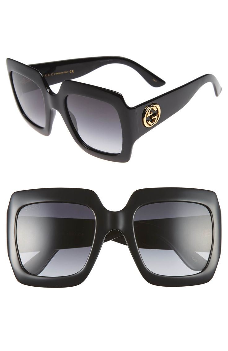 Main Image - Gucci 54mm Oversize Square Sunglasses