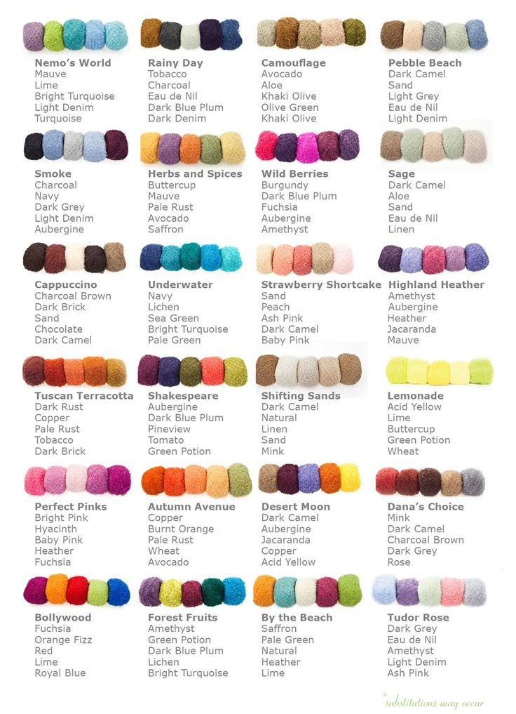 Best 25 Yarn Color Combinations Ideas On Pinterest