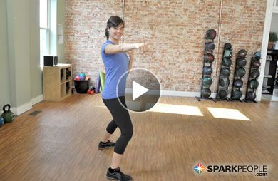 Cardio Kickboxing Circuit for Beginners: Torch calories and burn fat in just 10 minutes with this easy-to-follow workout video. | via @SparkPeople #fitness #exercise
